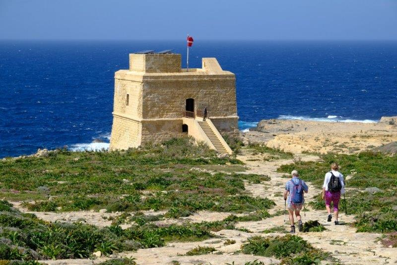 To another fort, the Dwejra Tower - built 1652