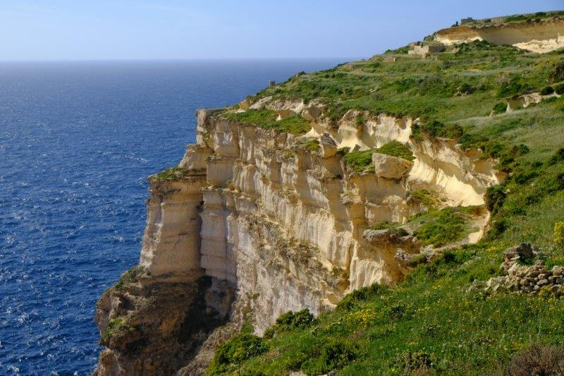More towering cliffs
