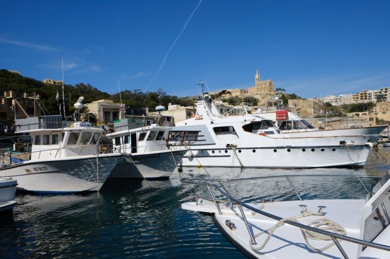 While Peter goes on a lengthy trip to Valetta, the rest of us are at the busy harbour of Mgarr, the starting point of our day trip to Comino