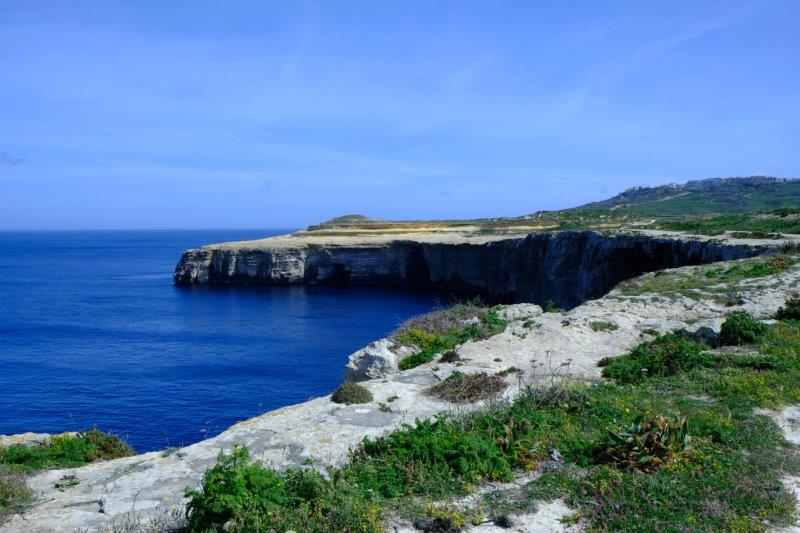 Walking along the cliff tops