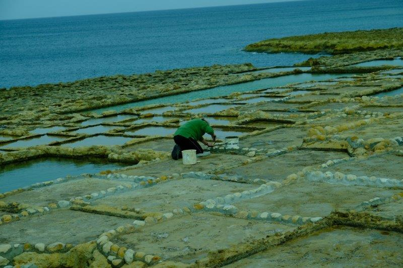 At work in the salt pans