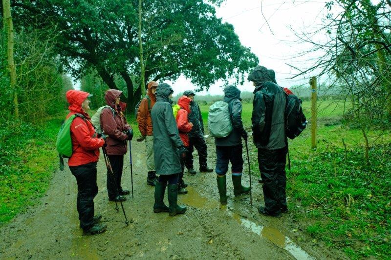 We head off in the rain