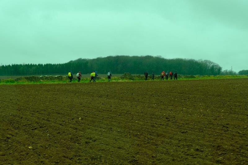 Circling a ploughed field