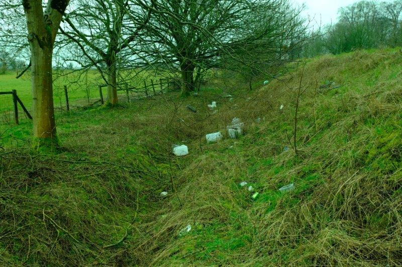 The side of the A46 - plenty of litter