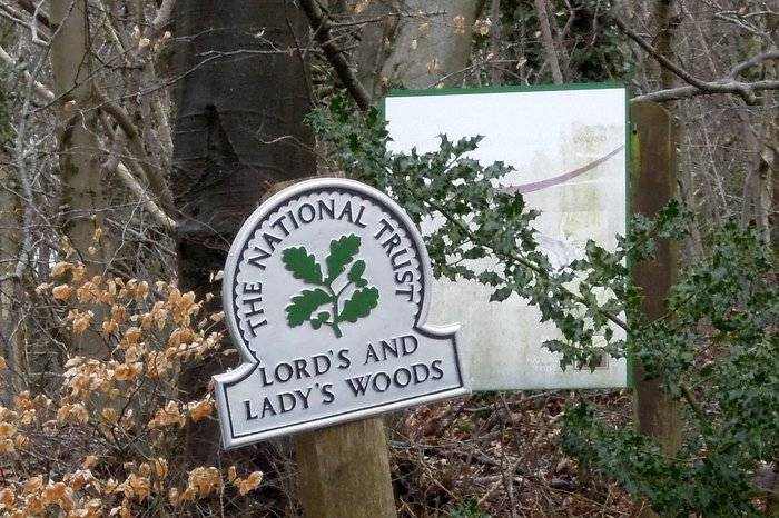 An economy measure - we now enter Lord's Wood, further on is Lady's Wood