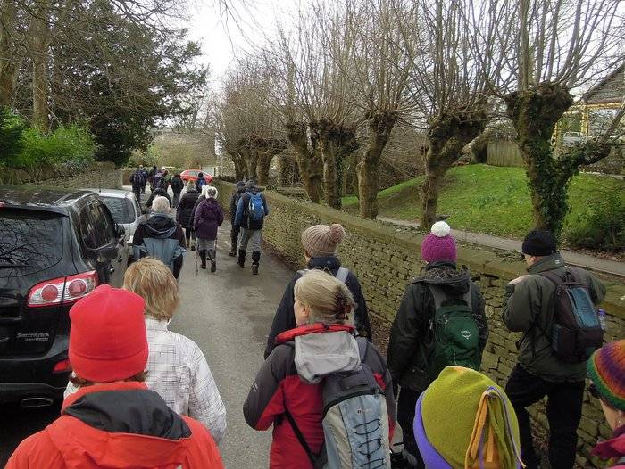 And 32 of us set off on this cool breezy morning