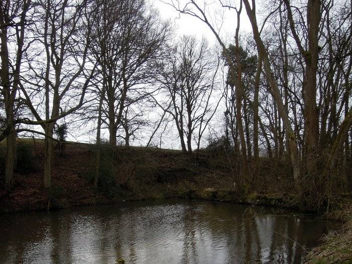 The mill pond up above