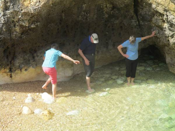Pebbles underfoot