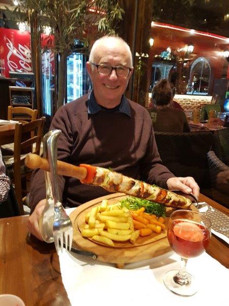 Richard with his huge kebab!