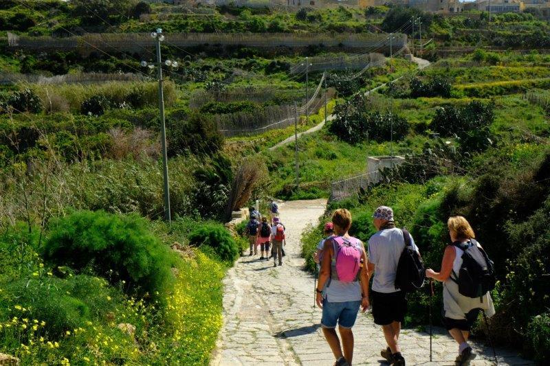 A downhill stretch