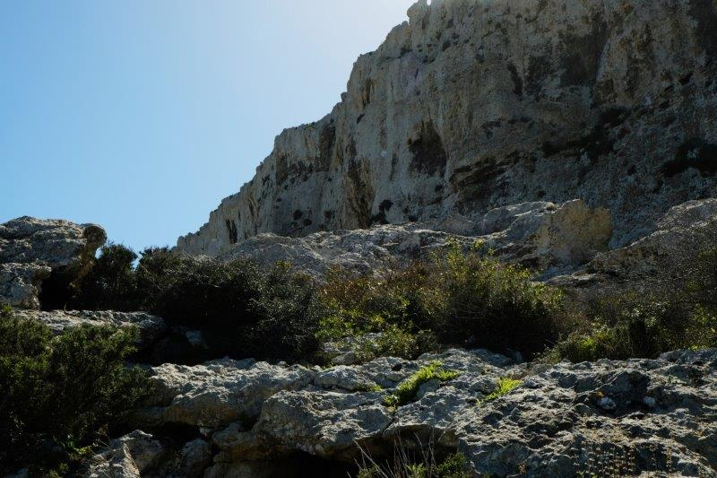 More steep cliffs