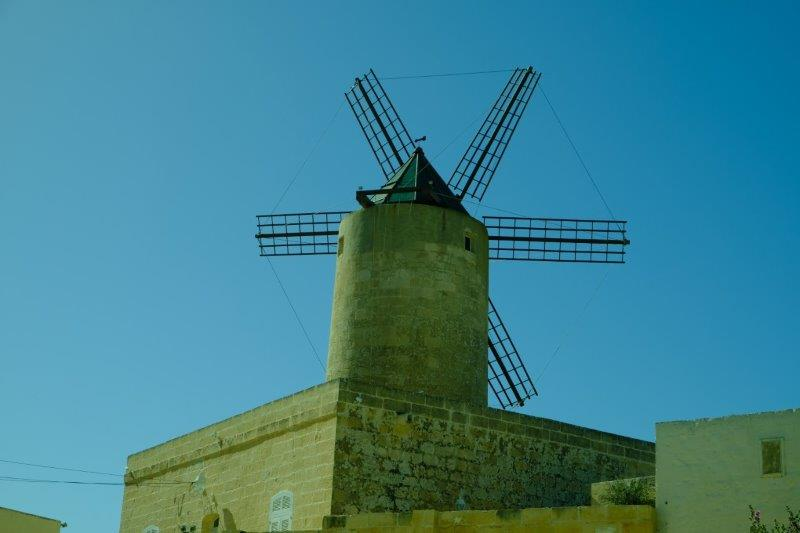 Into Nadur with its windmill