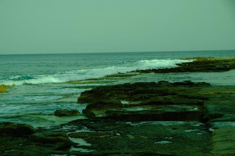 The sea quite rough