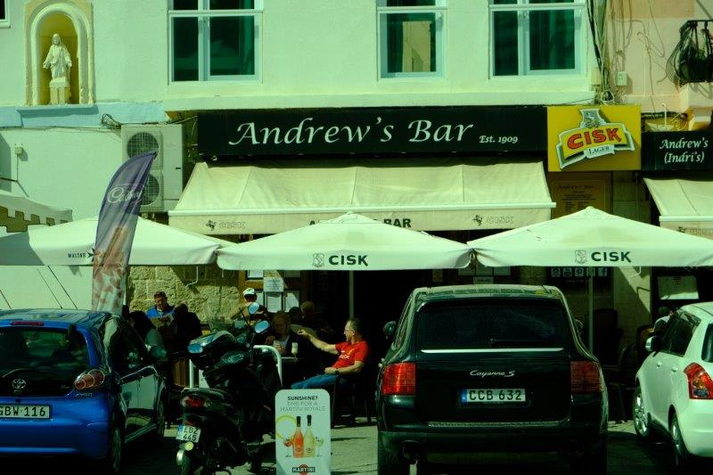 Andrew's Bar where we have our final dinner