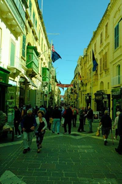 Typical street in old Valletta