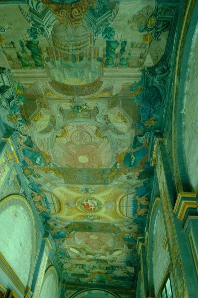 One of its decorated ceilings