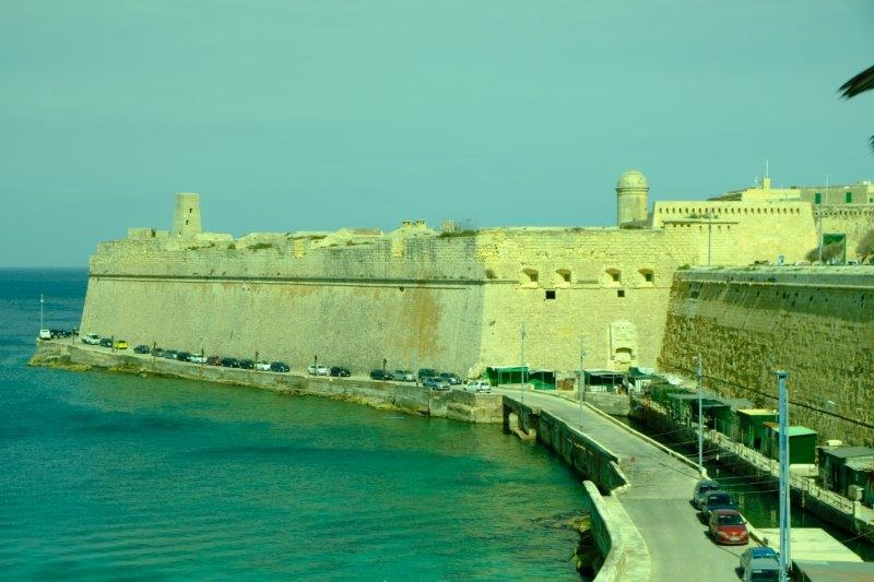 Some of Valletta's old fortifications