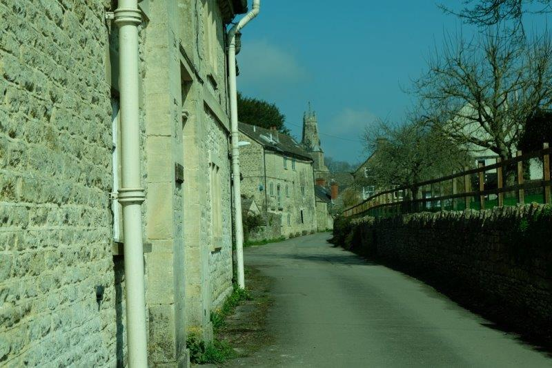 Skirting the edge of Minchinhampton