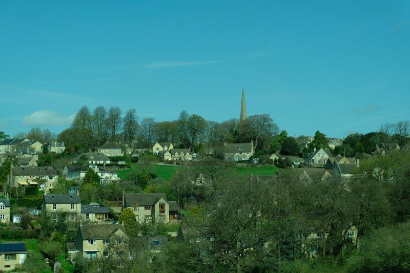 Painswick church on the hill