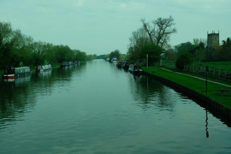Looking back up the canal