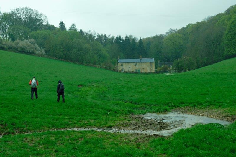 Then finally downhill towards a farm