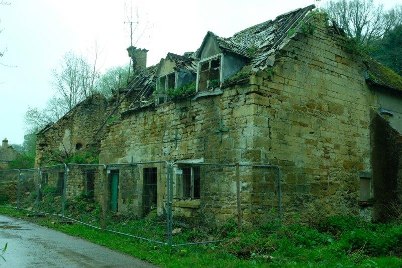 And a cottage which has seen better days