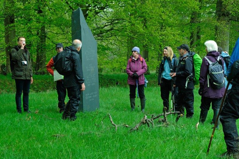 As we climb uphill we pass a monument to Hase and Michael Asquith