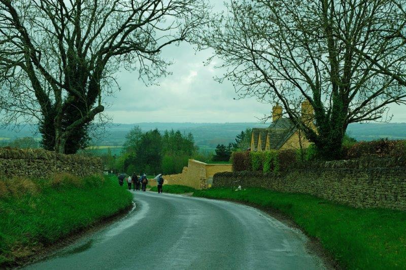 Then heading downhill into Longborough