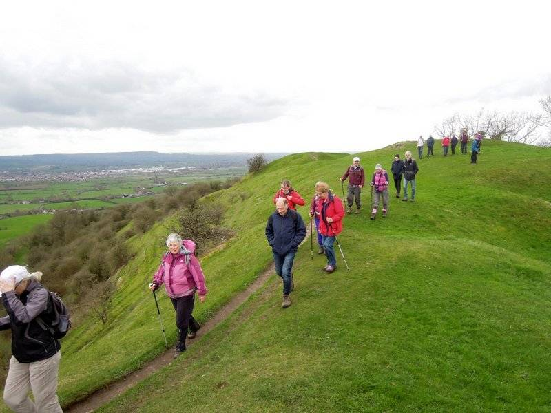Quite breezy as we leave Haresfield Beacon.