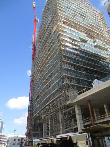 Lots of building work going on - this is the new Hilton