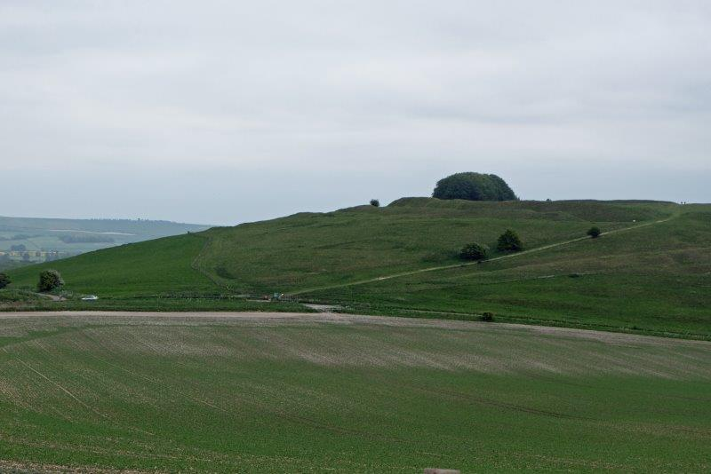 And there is our destination, Barbury Castle