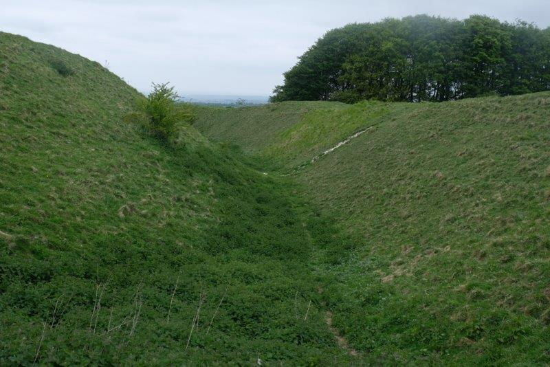 Part of the old fortifications round the edge of the old hill fort