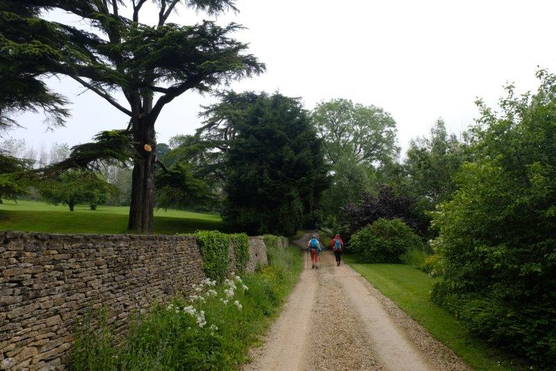 Along the driveway of Tunley House