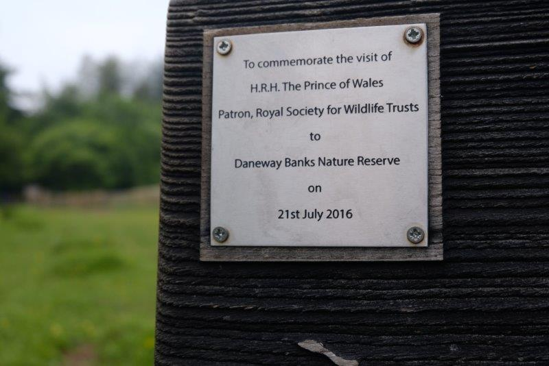 Commemorating the visit of Prince Charles