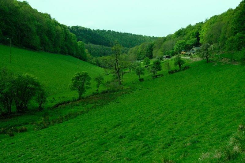 Then looking back down the valley