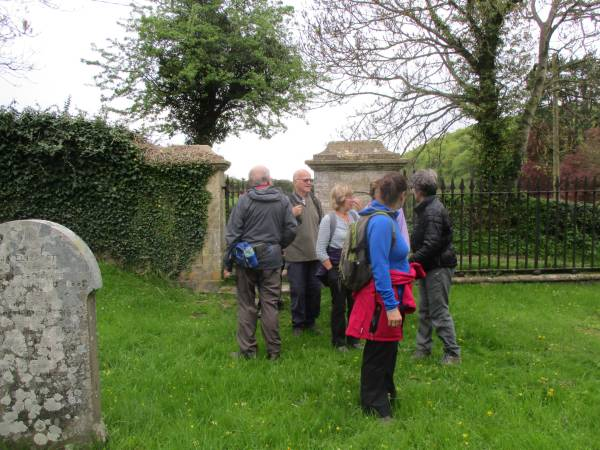 We're in the churchyard at Shortwood