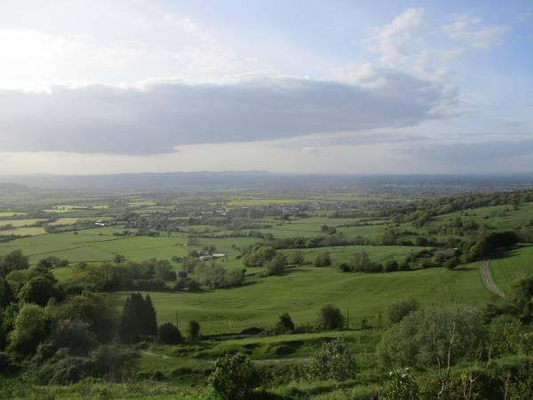 Stunning views over to the Malverns