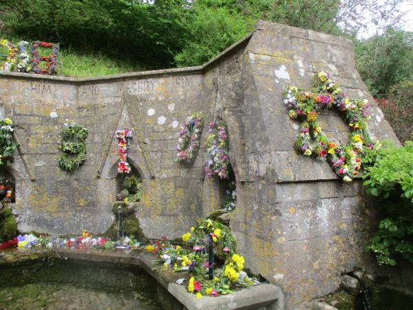 The well dressing from Ascension Day