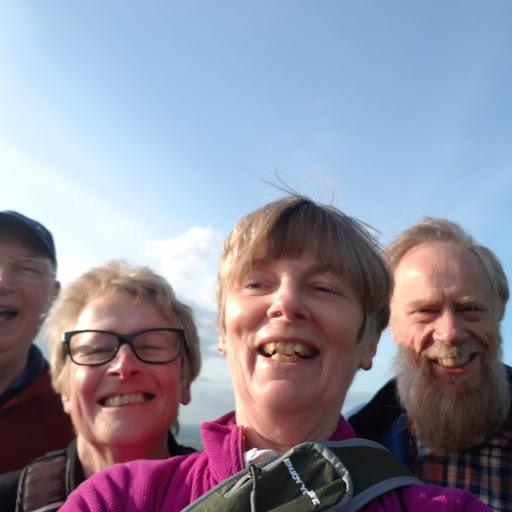 A selfie on the top of Crickley Hill