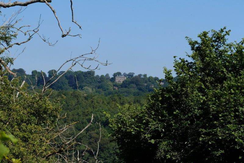 Meanwhile across the valley Newark House nestles in the trees