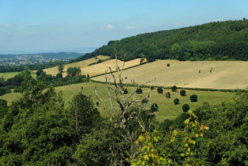 As we look down over Wotton to the Severn