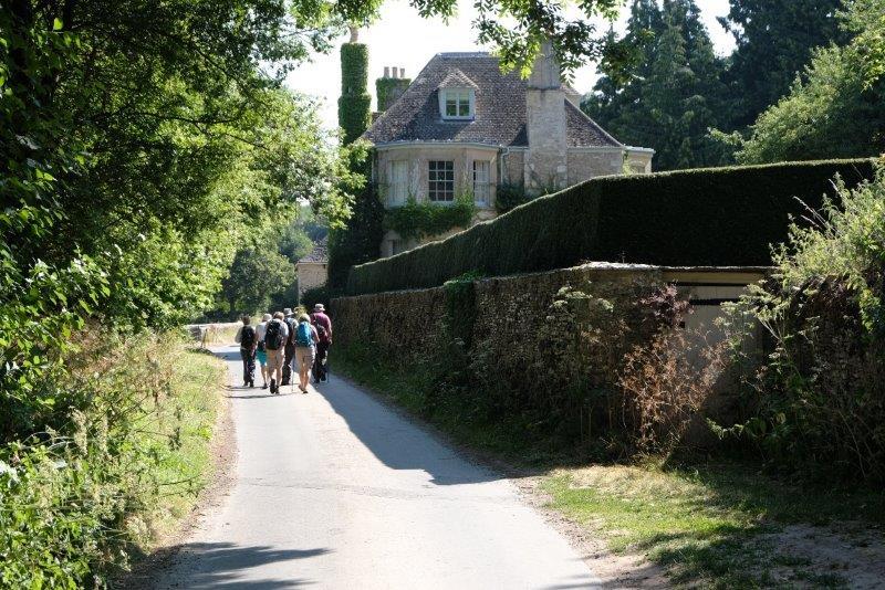 A short road walk