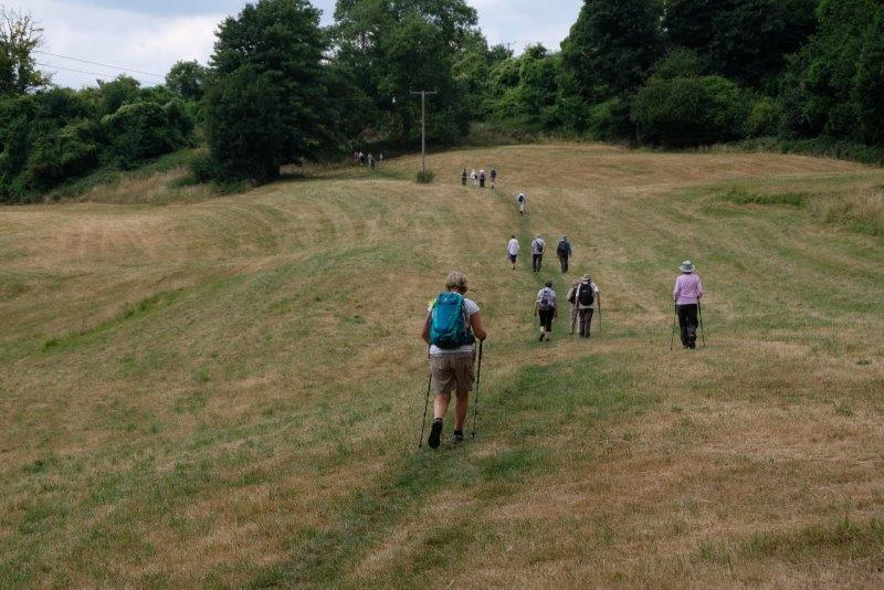 Then back across the fields
