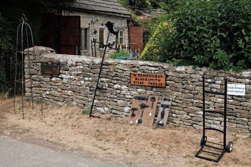 Past the village smithy back to the cars