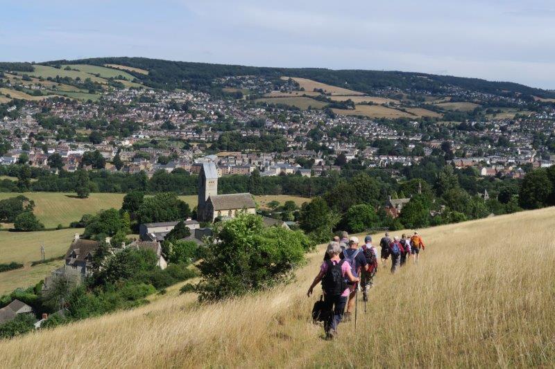 Heading towards Selsley Church