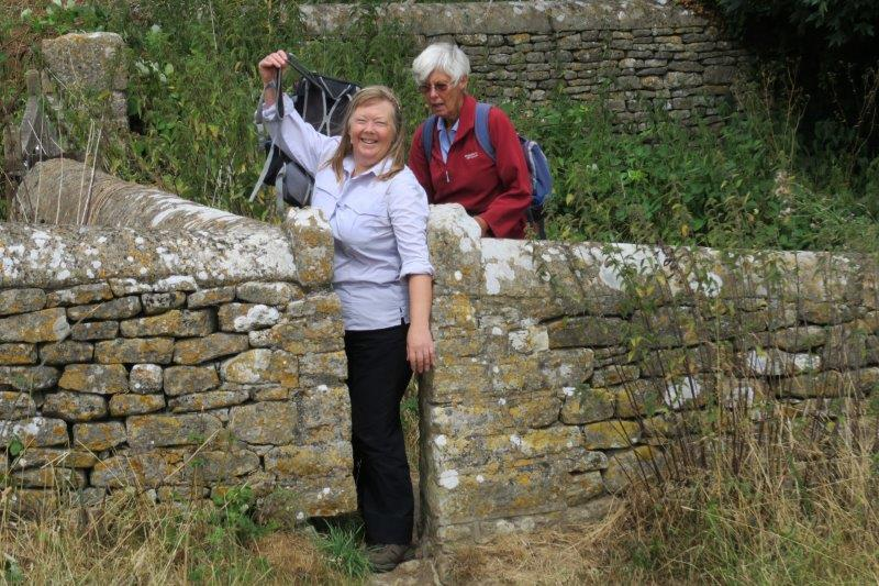 Olivia demonstrates the fact that she can get through a narrow stile