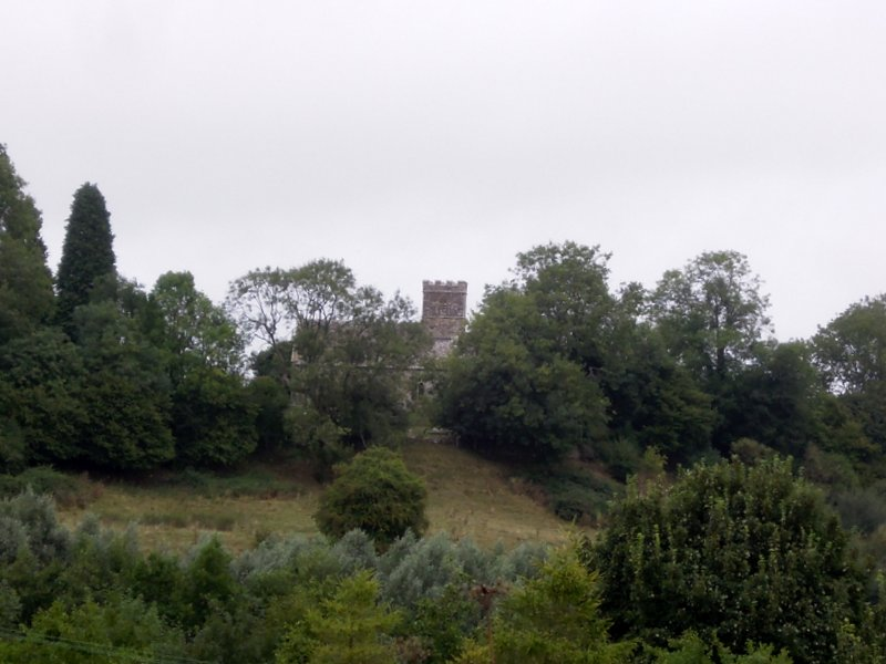 Zooming across to the Castle Mound and Church