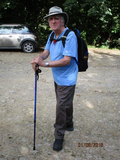 John's got a new pole, after his trusty walking stick snapped