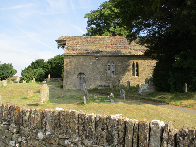St. Michael and All Angels church in Little Badminton - no steeple or tower