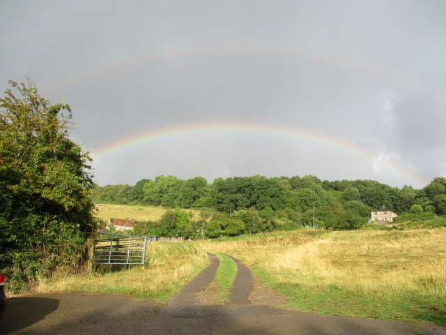 6.20 and a heavy shower but it does generate this double rainbow